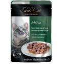 Edel Cat - Эдель Кэт консервы нежные кусочки в соусе Утка и кролик (паучи)