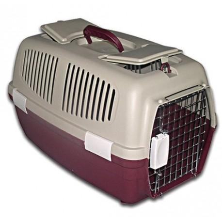 TRIOL (ТРИОЛ) ПЕРЕНОСКА для животных с железной решеткой (с люками) FS-03  620 x 390 x 380 мм