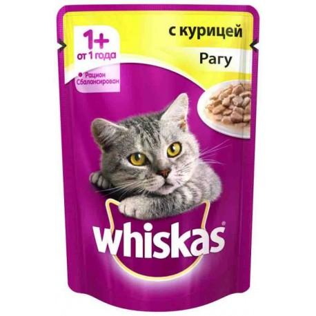 Whiskas - Вискас консервы для кошек рагу с курицей
