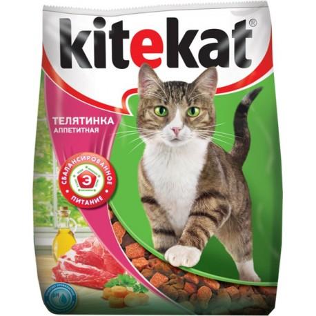 KiteKat Китикет сухой корм для кошек Аппетитная телятинка