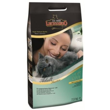 Leonardo Adult Sensitive Леонардо сухой корм для взрослых кошек (ягненок/рис)
