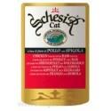 Schesir - Шезир пауч для кошек Цыпленок и Окунь 100г