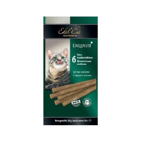 Edel Cat- Эдель Кэт Лакомство для кошек Колбаски заяц/печень