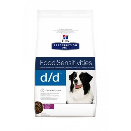 Hills PD Canine D/D Duck & Rice  Хиллс сухой корм для собак при пищевых аллергиях (Утка/рис)