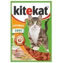 KiteKat - Китикет консервы для кошек пауч (курица)