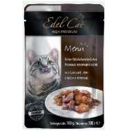 Edel Cat - Эдель Кэт консервы нежные кусочки в желе Гусь и печень (паучи)