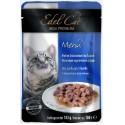 Edel Cat - Эдель Кэт консервы нежные кусочки в соусе Лосось и форель (паучи)