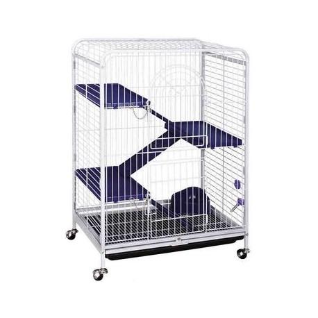 Kredo - D800 Клетка для шиншилл 3-этажная с выдвигающимся поддоном укомплектованная  на колесах