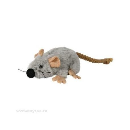 Trixiе игрушка для кошек Мышь серая, плюш 7см