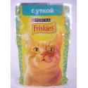 Friskies Фрискис пауч для взрослых кошек Утка кусочки в подливке