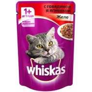 Whiskas - Вискас пауч для кошек желе с говядиной и ягненком