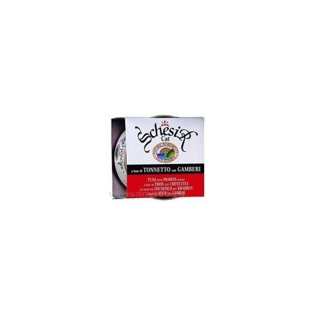 Schesir - Шезир консервы для кошек Тунец и Крабы Сурими 85г