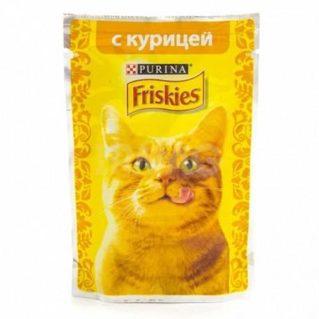 Friskies Фрискис пауч для взрослых кошек Курица кусочки в подливке