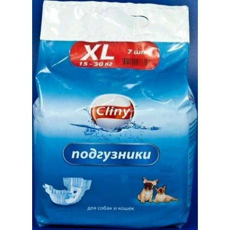 Cliny Подгузники для собак и кошек 15-30 кг размер XL