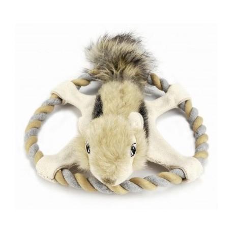 I.P.T.S. Игрушка для собак Белка на веревочном кольце, плюш 32см