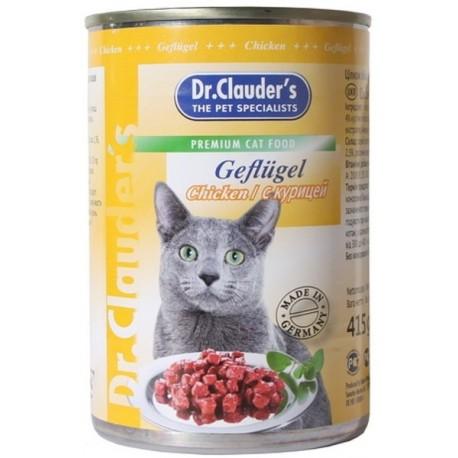 Dr. Clauder`s Др.Клаудер кон.для кошек Кусочки в соусе Курица