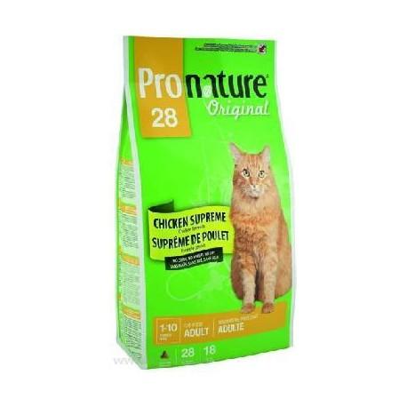 Pronature Original 28 сухой корм для взрослых кошек цыпленок