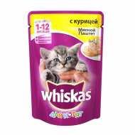 Whiskas Вискас пауч для котят паштет Курица