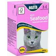 Bozita Mini Tetra Pak для кошек кусочки в соусе Морской коктейль