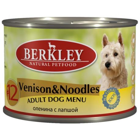 Berkley Venison & Noodles Adult Dog №12 Беркли консервы для собак Оленина с лапшой №12