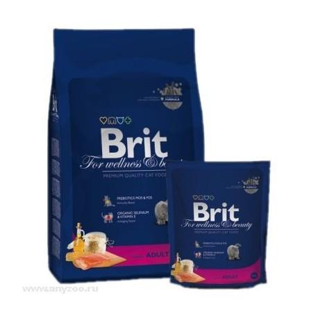 Brit Premium Cat Adult Salmon - Брит для взрослых кошек с Лососем