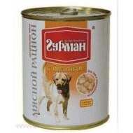 Четвероногий гурман консервы для собак мясной рацион с индейкой