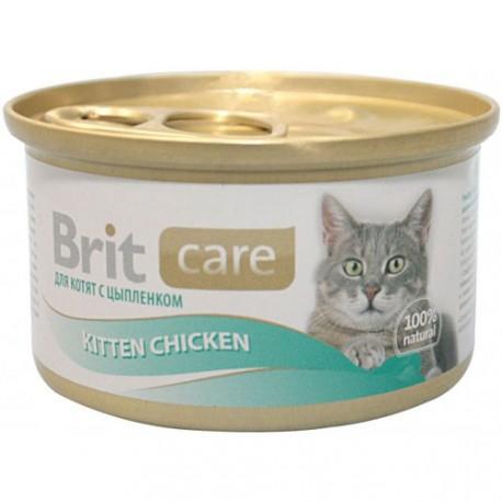Brit Care консервы для котят с цыпленком