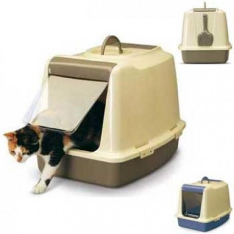 Savic Sphinx Туалет для кошек закрытый c дверцей,ячейкой для сменного фильтра и совком