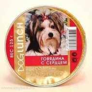 Dog Lunch - дог ланч консервы для собак крем-суфле говядина с сердцем ламистер