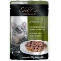 Edel Cat - Эдель Кэт консервы нежные кусочки в соусе Индейка и утка (паучи)
