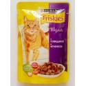 Friskies Фрискис пауч для взрослых кошек Говядина ягненок кусочки в подливе