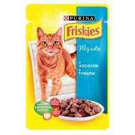 Friskies Фрискис пауч для взрослых кошек Лосось кусочки в подливке