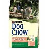Dog Chow Adult Sensitive сухой корм для взрослых собак Лосось/рис
