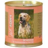 Dog Lunch Дог Ланч консервы для собак Ягненок с потрошками и рисом в желе