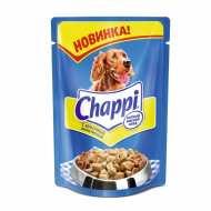 Chappi Чаппи консервированный корм для собак Пауч Курочка аппетитная