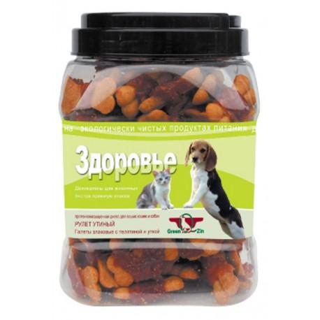 Green Cuisine Лакомство для собак Здоровье (галеты с телятиной и уткой)