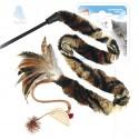 GiGwi Дразнилка для кошек с верёвкой, натуральные некрашеные перья