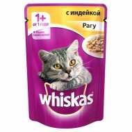 Whiskas - Вискас пауч для кошек Рагу с индейкой