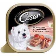Cesar консервы для собак Нежное пате Говядина/овощи
