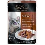 Edel Cat - Эдель Кэт консервы нежные кусочки в желе Птица и кролик (паучи)