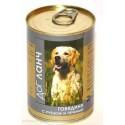 Dog Lunch - дог ланч консервы для собак говядина с рубцом и печенью в желе
