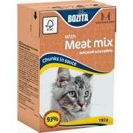 Bozita Mini Tetra Pak для кошек кусочки в соусе Мясной Микс