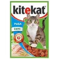 KiteKat - Китикет консервы для кошек пауч (рыба)