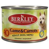 Berkley Game & Carrots Adult Dog Menu №10 Беркли конс для собак №10 Дичь с морковью