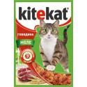KiteKat - Китикет для кошек пауч Говядина в желе