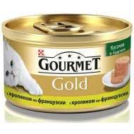 Gourmet Gold консервы для кошек Террин с кроликом по-французски, кусочки в паштете