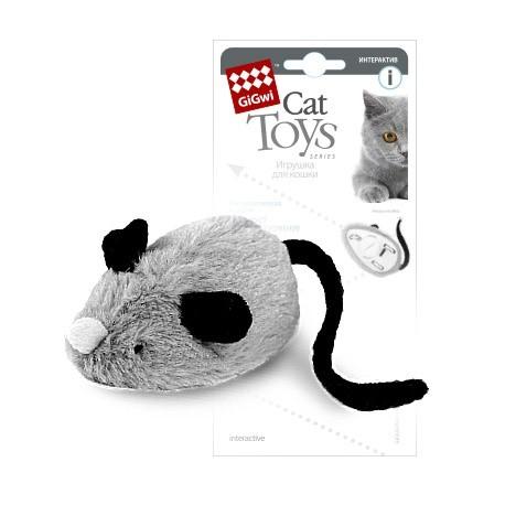 GiGwi Игрушка для кошек Интерактивная мышка