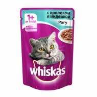 Whiskas - Вискас консервы для кошек рагу с кроликом и индейкой