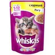 Whiskas - Вискас пауч  для котят с курицей рагу