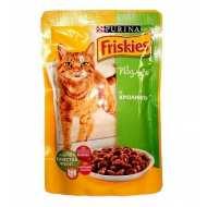 Friskies Фрискис пауч для взрослых кошек Кролик кусочки в подливе